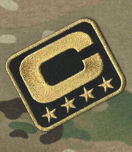 SUPER BOWL 50 CAROLINA PANTHERS 4-FOUR-STAR CAPTAIN's JERSEY GOLD/BLACK PATCH