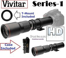 Ser-1 Vivitar 500mm Telephoto HD Lens For Sony SLT-A37 SLT-A55 SLT-A33 SLT-A57