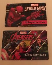 Disney Collectible Gift Card - 2016 Spider-Man And Avengers No Value Set Of 2