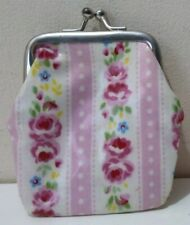 Cath Kidson Kids Small Coin Purse Pink Floral Design Oil Skin Printed Lining