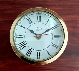 Handcrafted Table Top And Wall Clock Round Shape Pure Brass Handcrafted clock