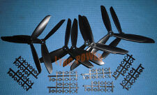 """8X Good Three 3- Blade 8045 """" Black 8x4.5 Propeller L/R CW CCW For Multi Copter"""