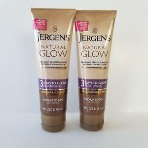 Jergens Natural Glow Moisturizer Medium Tan Skin 4oz Each New Lot 2