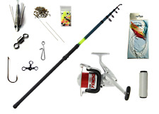 Complete Sea Fishing Set - Rod Reel Line Tackle Accessories  - 12ft telescopic