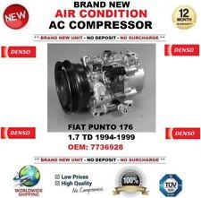 DENSO AIR CONDITION AC COMPRESSOR FIAT PUNTO 176 1.7 TD 1994-1999 FEO: 7736928