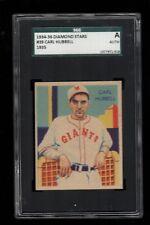 1934-36 National Chicle BB DIAMOND STARS #39 Carl Hubbell Giants SGC GRADE A !!!