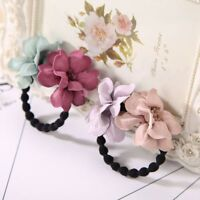 Bun Maker Elastic Faux Flower Girls Hair Ropes Headwear Ponytail Holder