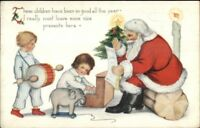 Christmas - Whitney Santa Claus Playing w/ Children c1915 Postcard EXC COND