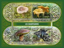 Togo 2017 MNH Mushrooms 4v M/S Champignons Fungi Nature Stamps