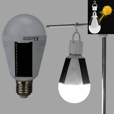 Waterproof LED Solar Light Bulb 7W E27 fo Tent Camping Fishing Lamp Rechargeable