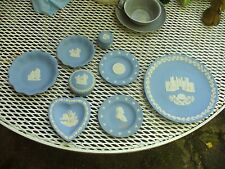 8 Pieces Of Wedgewood Queens Ware ~ Trinket Boxes, Heart Shaped Bowls & Plate