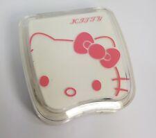 Mini White Kitty Coloured Contact Lens Lenses Travel Kit - Mirror Case Tweezers