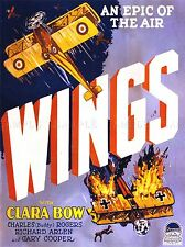 ADVERTISING MOVIE FILM WINGS WWI PLANE DOGFIGHT BOW COOPER POSTER PRINT LV1106