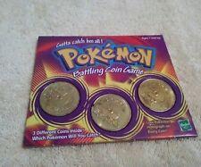 Pokemon Battling Coin Game Hasbro #08Wartortle,#39Jigglypuff,#130Gyarados 1999