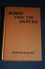 1934 Who Took the Papers  by Walter Karig, Nancy Drew Author