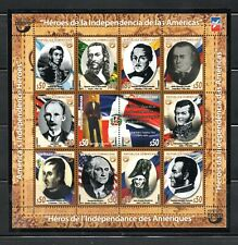 Dominican Republic stamps America-Upaep 2014 America's Independence Heroes MNH