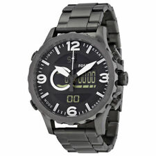 Fossil Original JR1491 Mens Nate Smoke Stainless Steel Watch 50mm