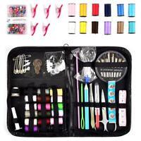 200 Piece Mini Sewing Kit Thread Scissor Tape Pins Thimble Needle Travel Home
