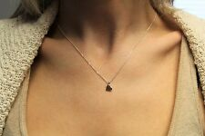 Heart pendant Necklace 16L New 925 Sterling Silver Smooth