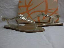 Via Spiga Size 9 M Aislin Platinum Leather T Strap Sandals New Womens Shoes