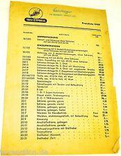 TRIX EXPRESS Preisliste 1949  H0 1:87  å