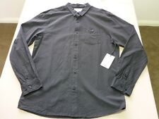 026 MENS NWT BILLABONG 'WOLFGANG' SLIM FIT BLACK L/S SHIRT LRG $80.