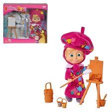 bambola personaggio di masha  e orso pittrice giocattolo per bambini simba