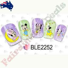 20 Mickey & Minnie Mouse Cartoon Nail Art Stickers Water Decals BLE2252