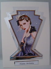 Luxury Art Deco Birthday Card Family or General can be personalised