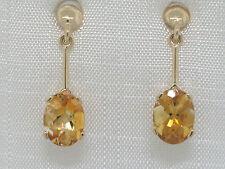 Citrin Ohrhänger 585 Gelbgold 14Kt Gold  facettierte natürliche Citrine