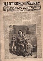 1867 Harper's Weekly December 14;Rondout NY;shooting buffalo from trains;Pilgrim