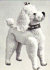 Vintage REALISTA Toy Poodle Tejer patrón