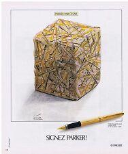 PUBLICITE ADVERTISING 054 1978 PARKER stylo par CESAR le Sculpteur