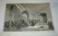 1878 magazine engraving ~  CAPTIVE ISRAELITES BEFORE THE KING OF ASSYRIA