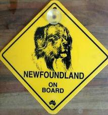 12cm Roadsign Schild mit Saugnapf NEWFOUNDLAND Neufundländer Warnschild Hund