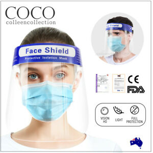 Full Clear Face Shield Mask Protective Film Shields Visor Safety Cover Anti-Fog