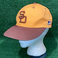 OC Sports Team MLB San Diego Padres Yellow & Brown Strapback Hat Cap VTG Logo