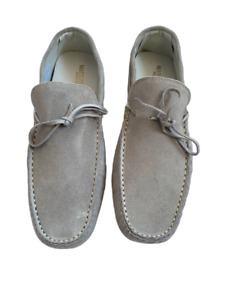 Mens Shoe Leather Moccasin Slip on Italian Made