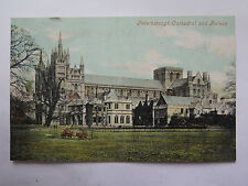 POSTCARD PETERBOROUGH CATHEDRAL & PALACE GREAT BRITAIN VALENTINE SERIES COLOUR