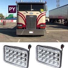 2PC 4X6 CREE LED Headlights Sealed Beam Bulb Kenworth T800 T400 Peterbilt 357