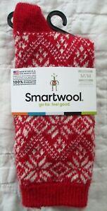 SMARTWOOL Women's Traditional Snowflake Crew SOCKS Crimson Red Size M NWT