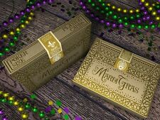 1 deck Mardi Gras Rare Limited Gold Edition Playing Cards Poker-S102446-B7