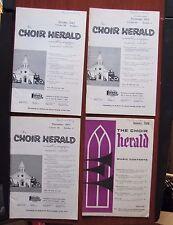 4) 1960s The Choir Herald issues- Hymns sheet music songs church Lorenz
