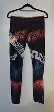 Reebok ladies black logo sports leggings size 12-14, perfect condition