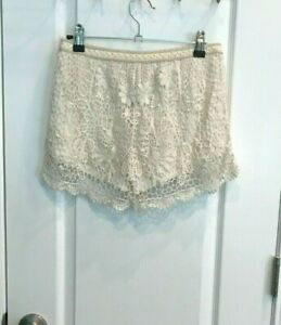 Mossimo Supply Co. Lace Ivory Shorts - Size S/P - Free Shipping!