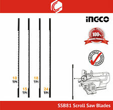 INGCO SSB81 8pcs Scroll Saw Blade Pack - Size:10, 15, 18, 24 TPI – 2pcs each