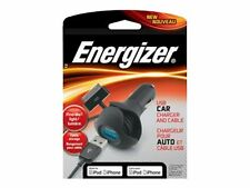 Energizer Pc-1cacap USB Car Charger and Cable Apple 30 Pin iPhone iPad iPod 5w