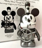 """DISNEY VINYLMATION 3"""" MICKEY MOUSE THROUGH THE YEARS STEAMBOAT WILLIE 1928 VINYL"""
