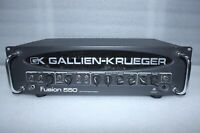 Gallien Krueger Fusion 550 500/50 Watt Six Stage Bi-Amp Hybrid Valve Bass Head