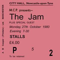 The Jam/Paul Weller Concert Coasters Ticket October 1980 High quality Coaster
